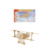 Конструктор деревянный 3D Биплан СМ-1015-А4)